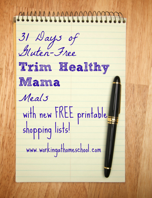 New Printable Shopping Lists For  Days Of Trim Healthy Mama
